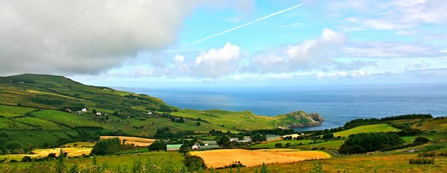View over Torr head and Murlouch Bay