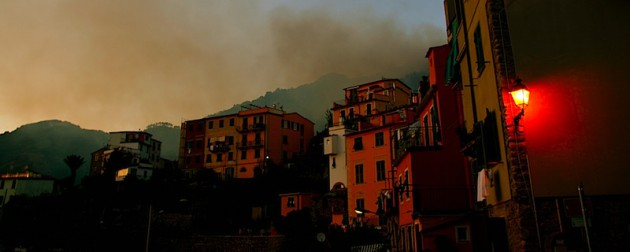 Smoke over Corniglia