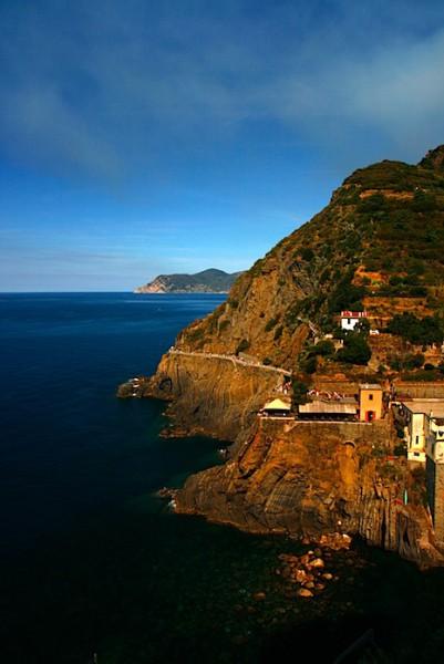 Rocky coastline at Riomaggiore