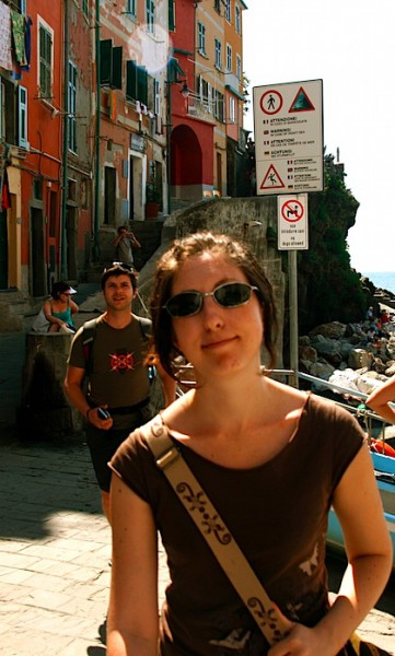 Katherine and Timmy at Riomaggiore