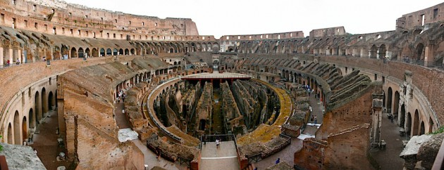 The Colosseum arena floor