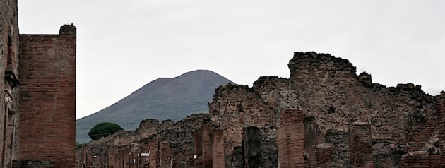 Vesuvius and the ruins of Pompeii