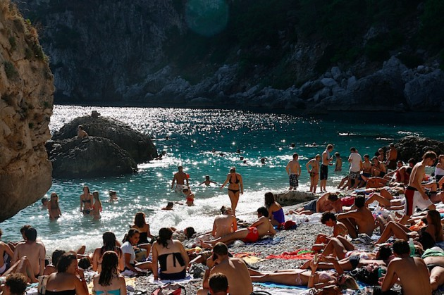 The beach at Capri by the marina