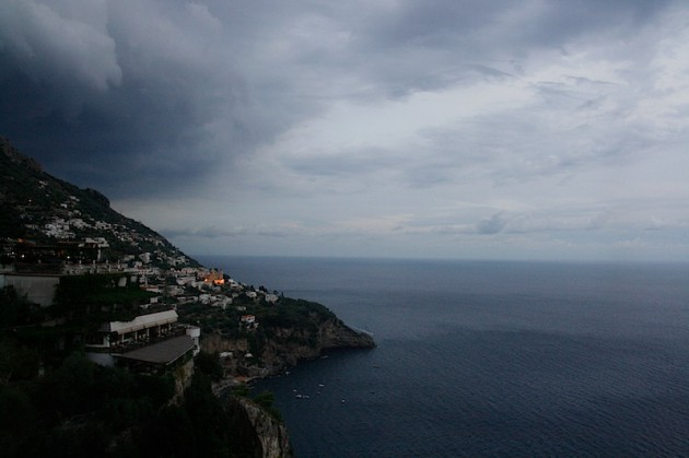 Storm brewing on the Amalfi coast