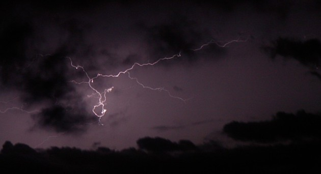 Electrical storm over San Vito Lo Capo