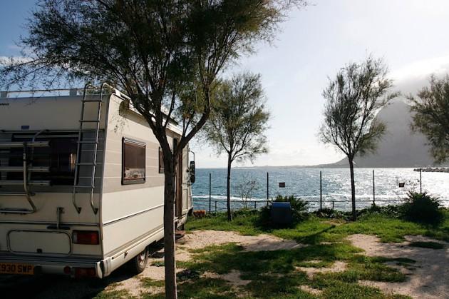 Our sosta camper in San Vito Lo Capo
