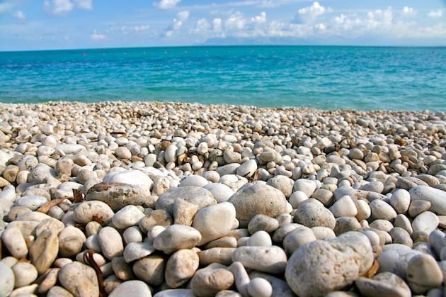 Pebbled beach at Zingaro
