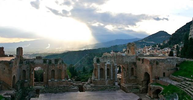 The Greek theatre at Taormina