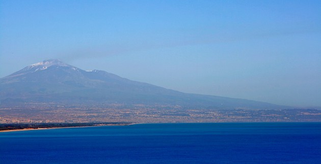 The view of Mount Etna
