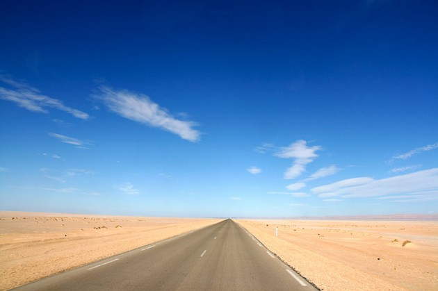 The wide, wide open road