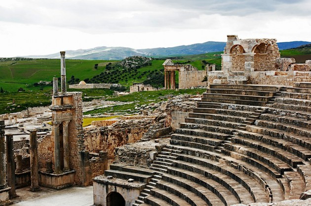 The theatre at Dougga