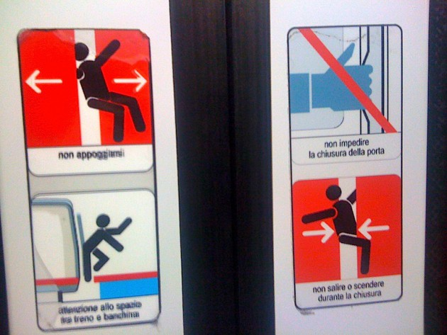 No butt-rubbing the train