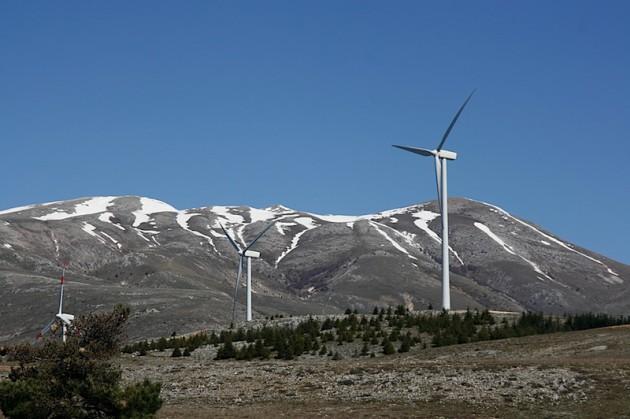 Wind farm near Collarmele