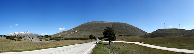 Road near Collarmele