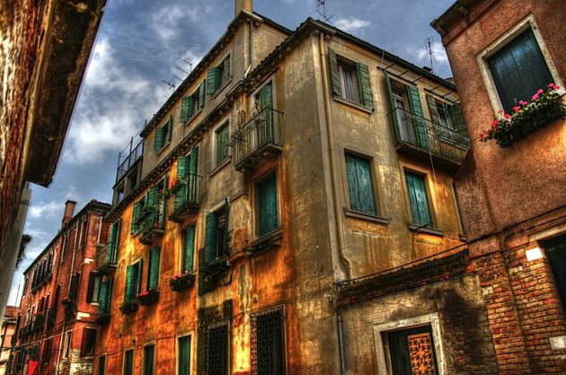 Colourful venetian building