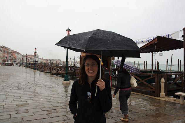 Happy in the Rain on Canale di San Marco - Venice