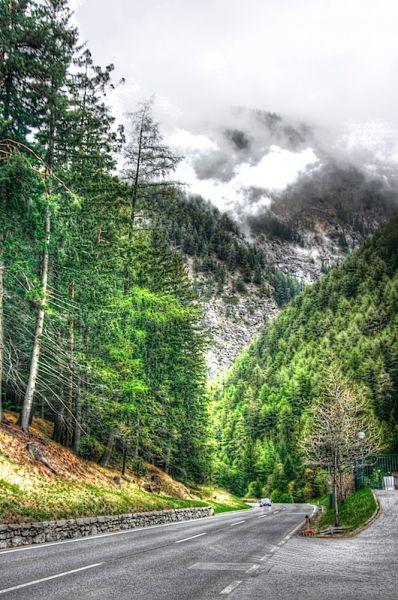 Pass near Nauders, Austria