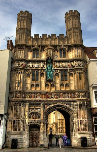 Christ Church Gate, entrance to Canterbury Cathedral complex