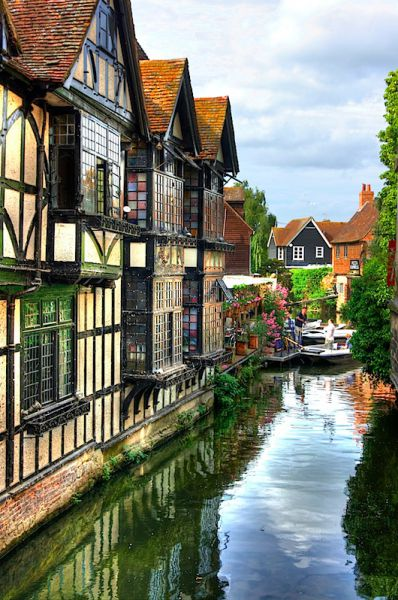 Canal beside Old Weaver's House, Canterbury