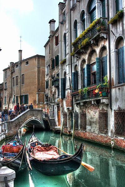 Venice Gondolas HDR