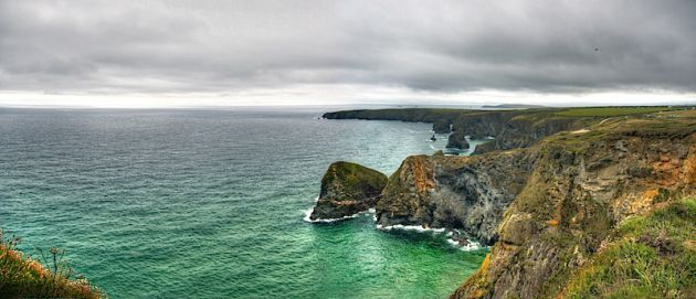 Bedruthan Steps, HDR