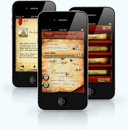The Cartographer iPhone Travel Map App.jpg