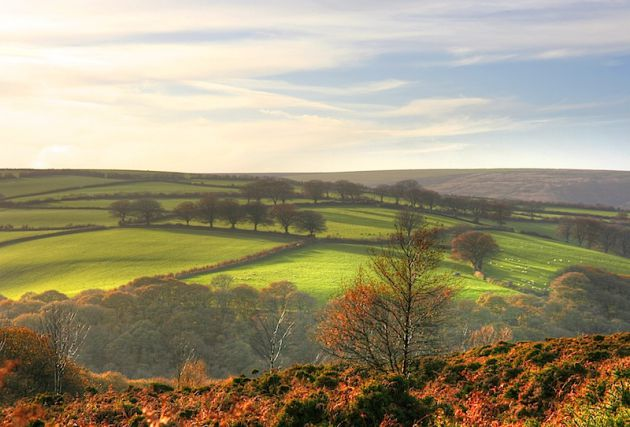 Exmoor National Park Devon UK Autumn Fall Hike HDR