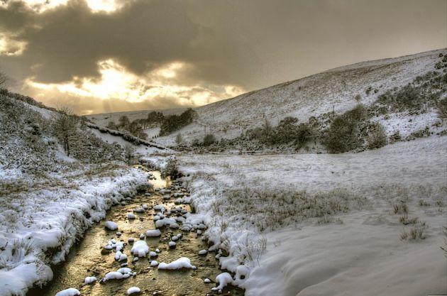 Wales Stream Snow