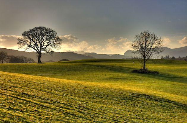 Fields around Wray Castle