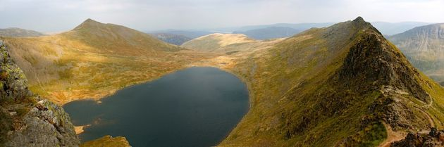 Red Tarn and Striding Edge, Helvellin