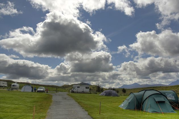 Torvaig campsite, Isle of Skye