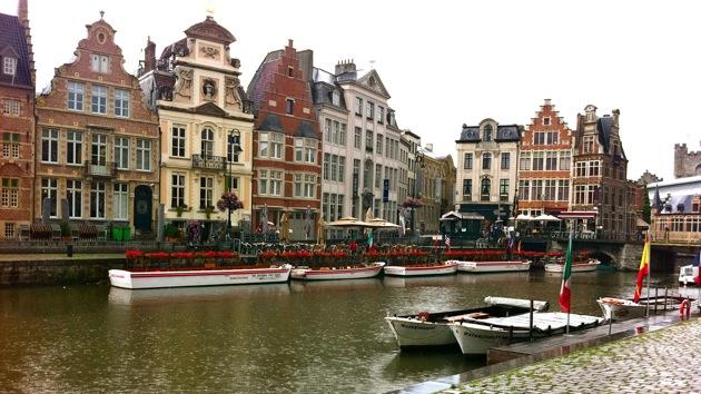 Gent canal, Belgium