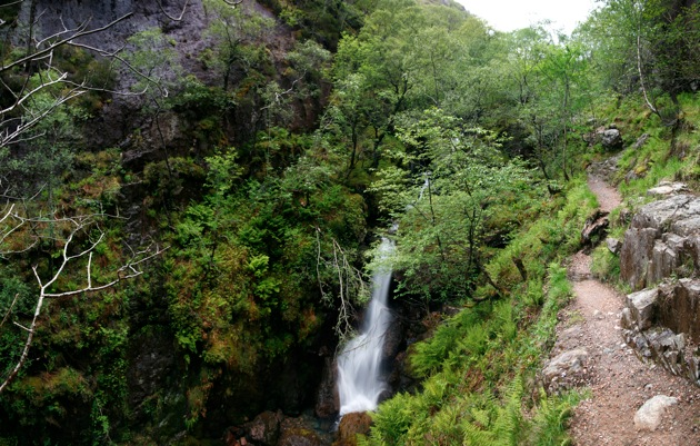 Lost Valley waterfall, Glencoe