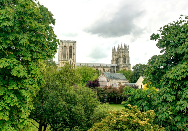 York minster and gardens