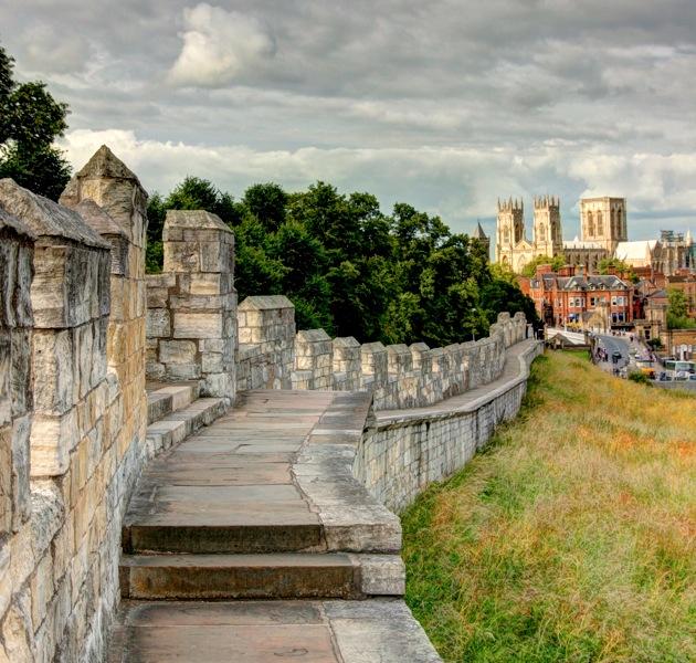 City wall, York
