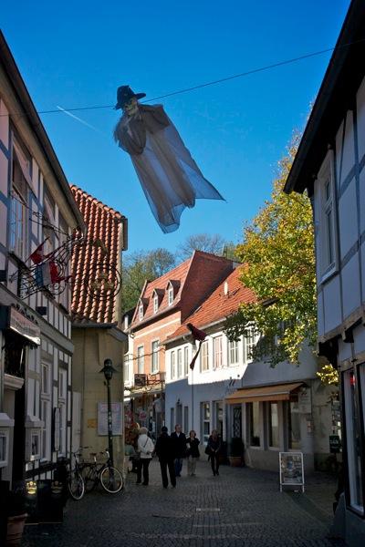 Halloween decorations in Tecklenburg